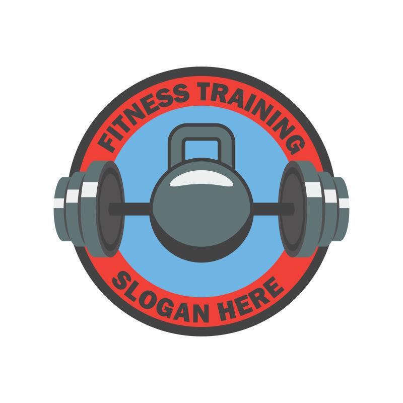 矢量健身器材的健身标志设计