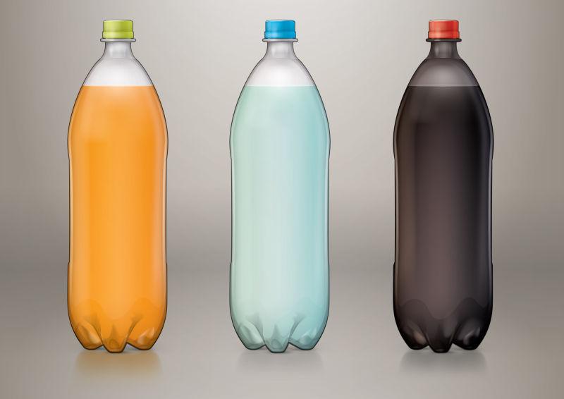 矢量透明的汽水瓶子设计