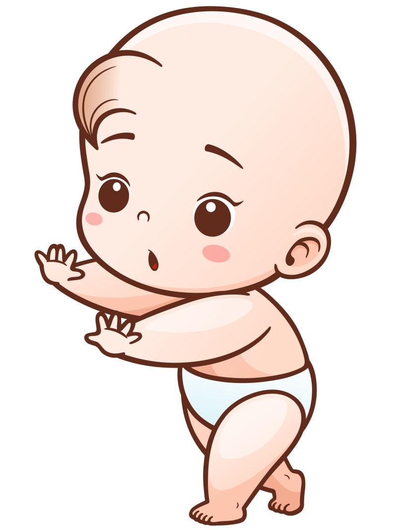 矢量学习走路的婴儿
