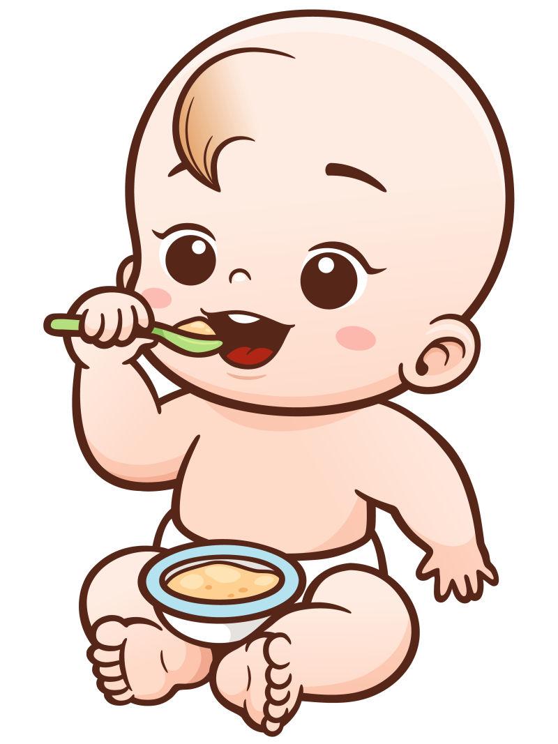 矢量吃东西的宝宝