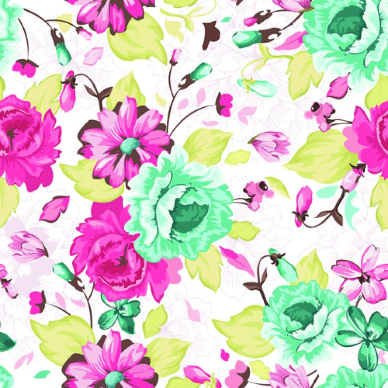 矢量抽象美丽花卉元素的设计背景