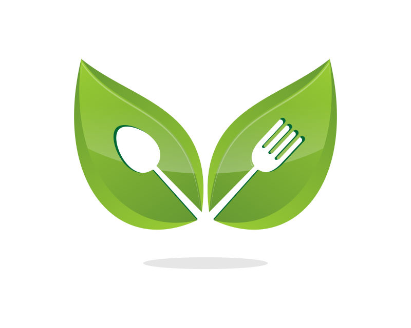 创意矢量素食食品图标设计