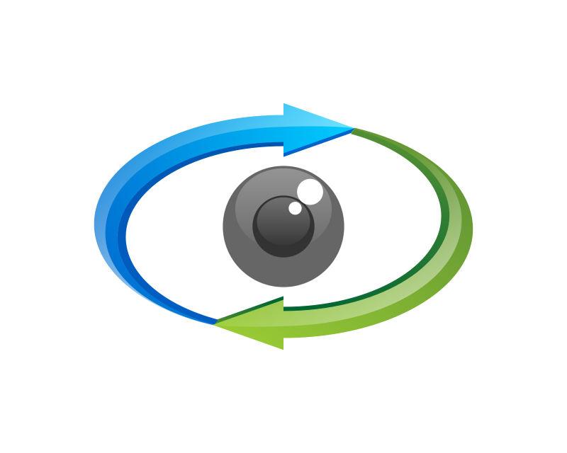 创意矢量眼镜视觉的图标设计