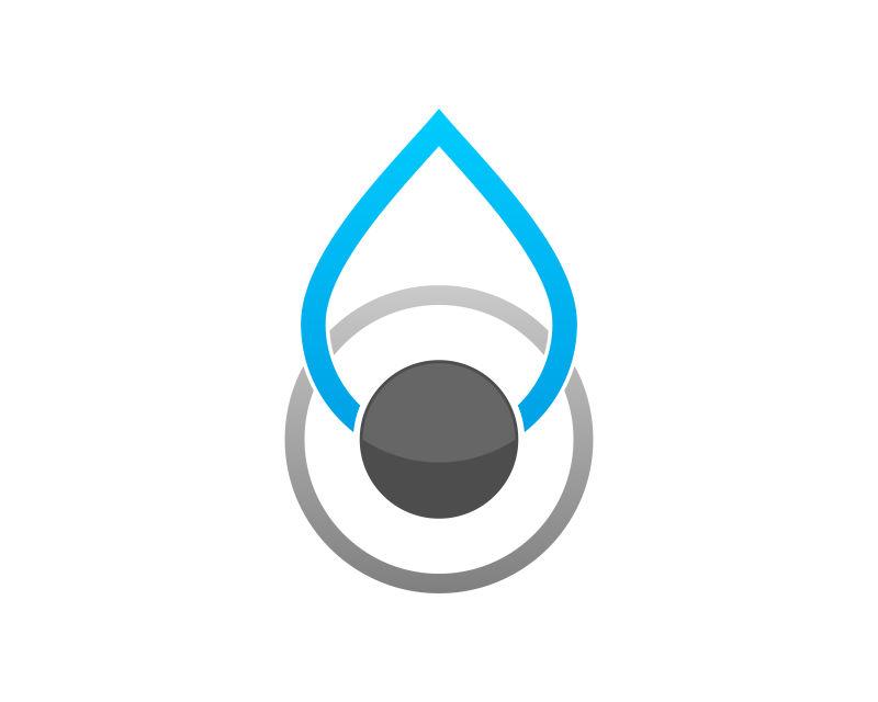 抽象矢量滴眼液主题的图标设计