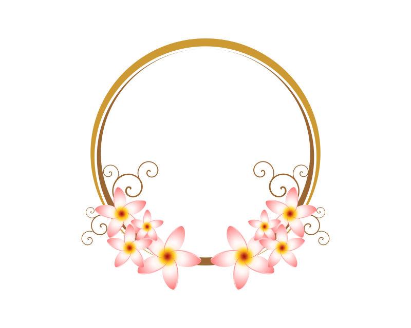 矢量创意花卉装饰边框