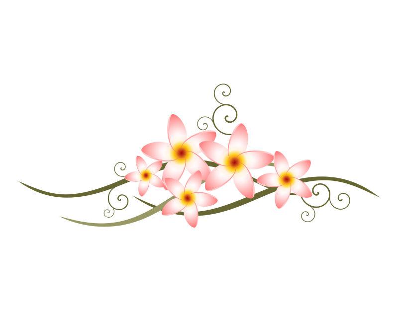 抽象矢量花束元素的图标设计