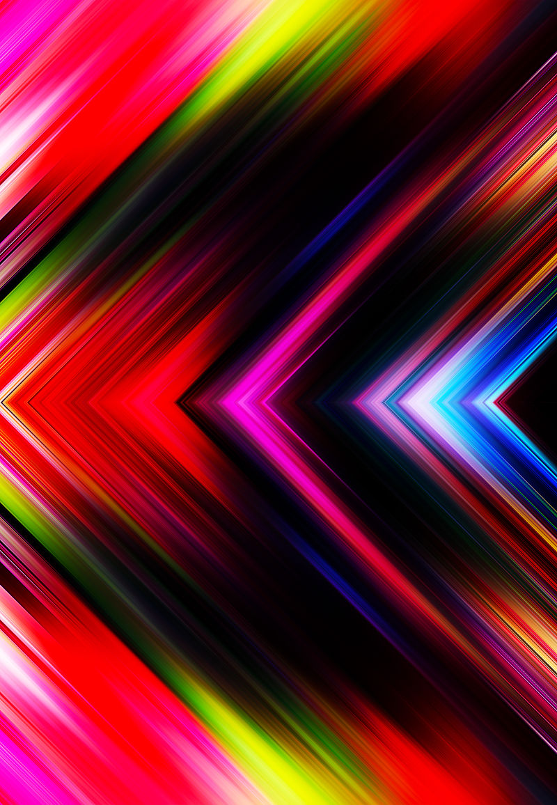 抽象彩色箭头线性光线背景