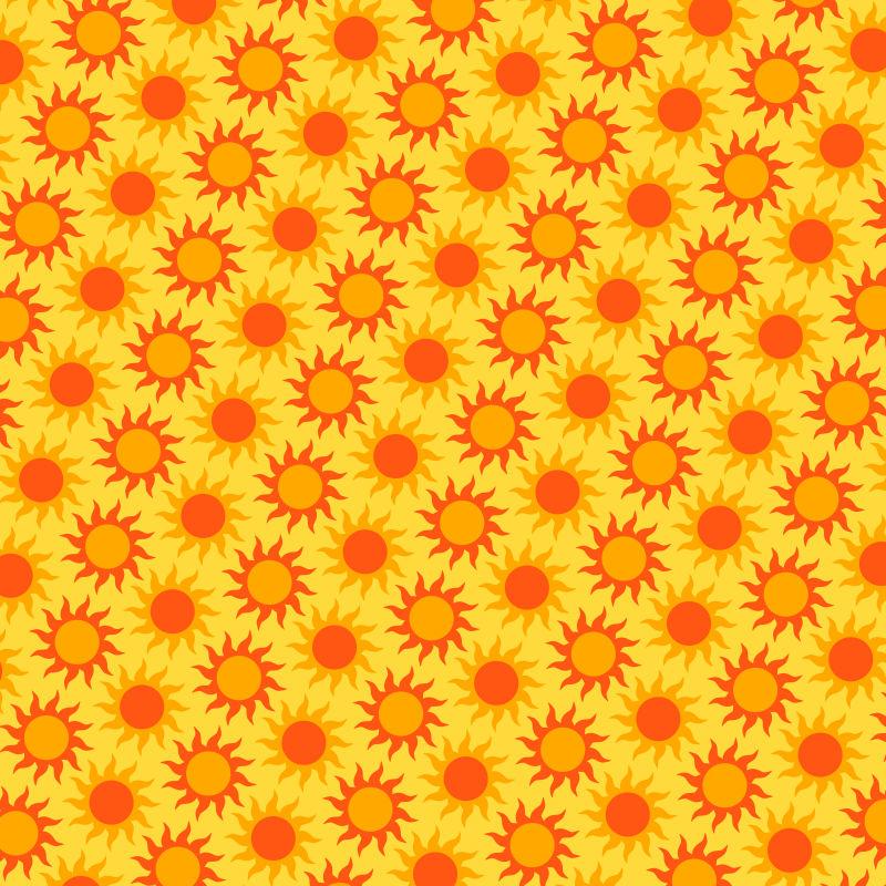 抽象矢量现代太阳元素无缝装饰背景