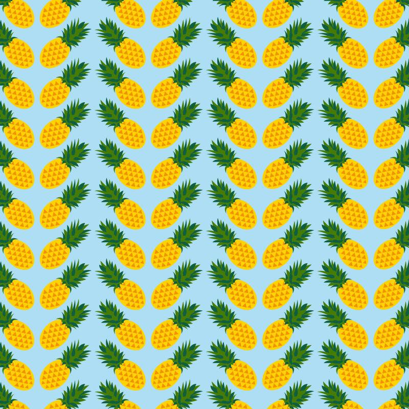 抽象矢量热带菠萝元素无缝装饰背景