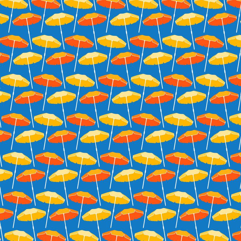 抽象矢量太阳伞元素装饰无缝背景
