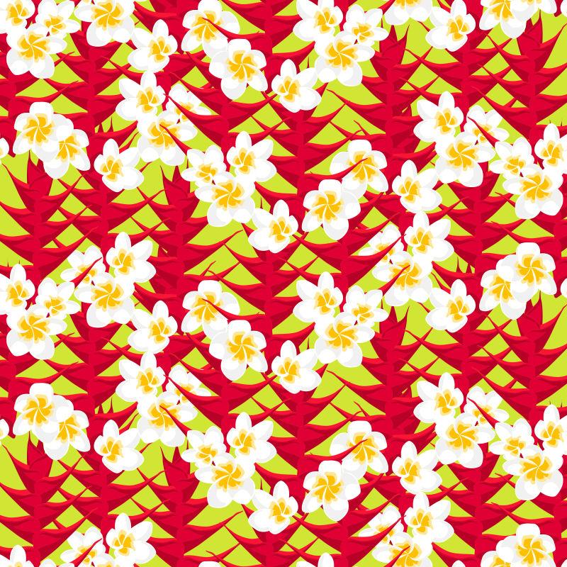抽象矢量小白花无缝装饰设计背景