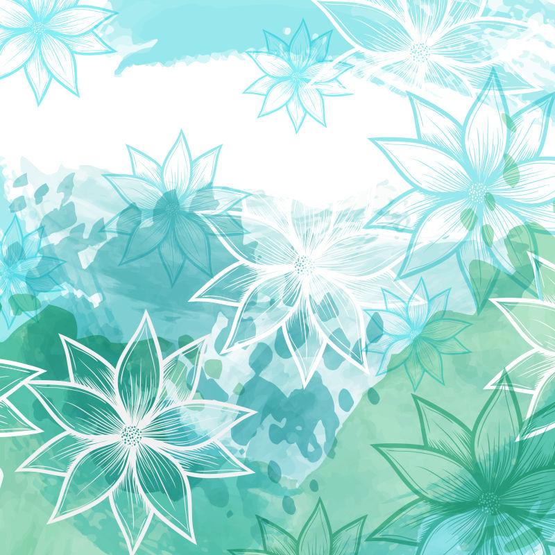 美丽简单花卉元素的背景