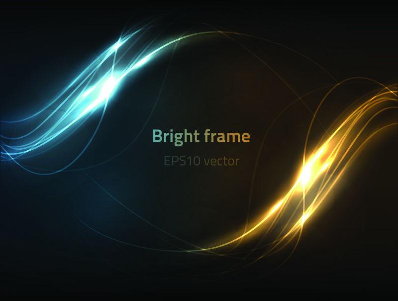抽象矢量双色光线背景设计