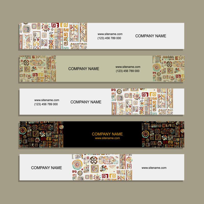 创意矢量民族花纹装饰现代背景设计