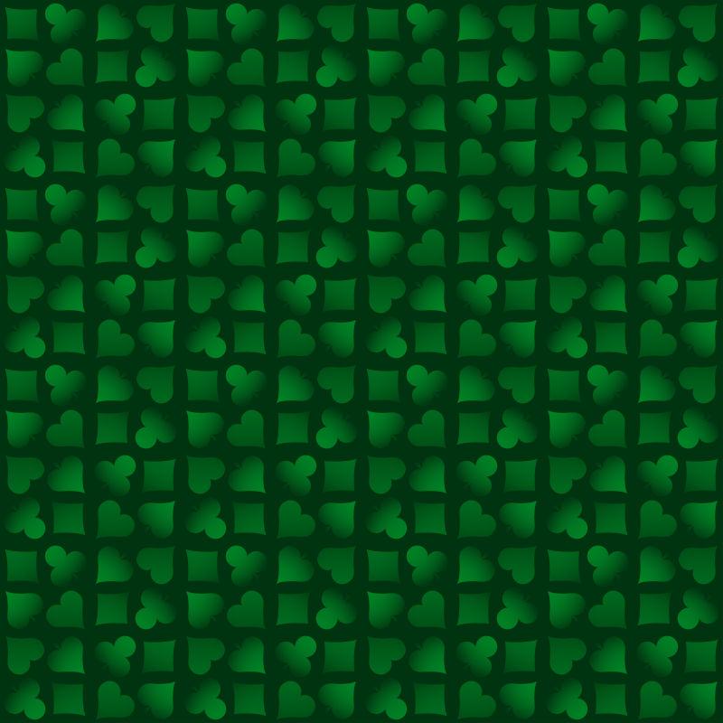 创意矢量现代绿色扑克元素背景设计