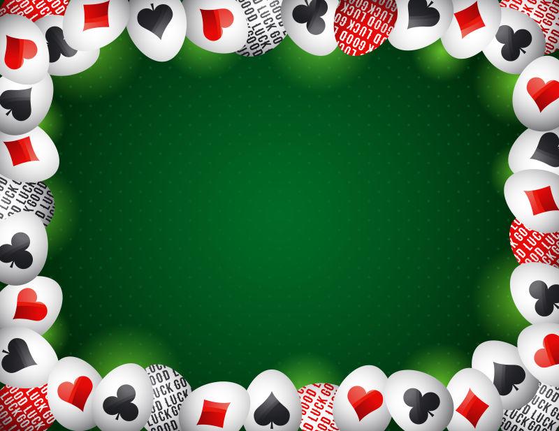 矢量现代创意扑克元素的复活节彩蛋设计
