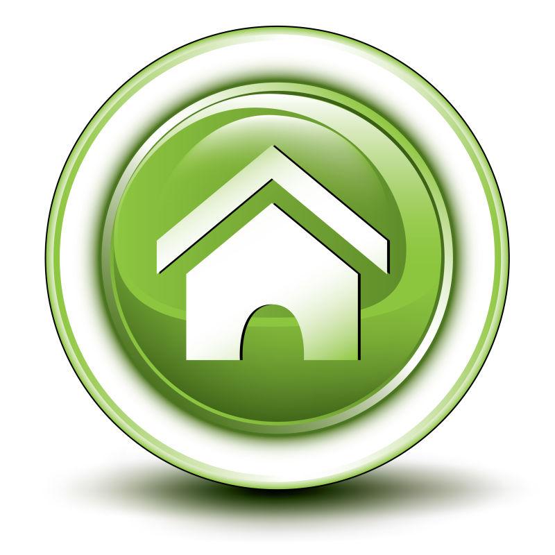 创意矢量生态住宅图标设计