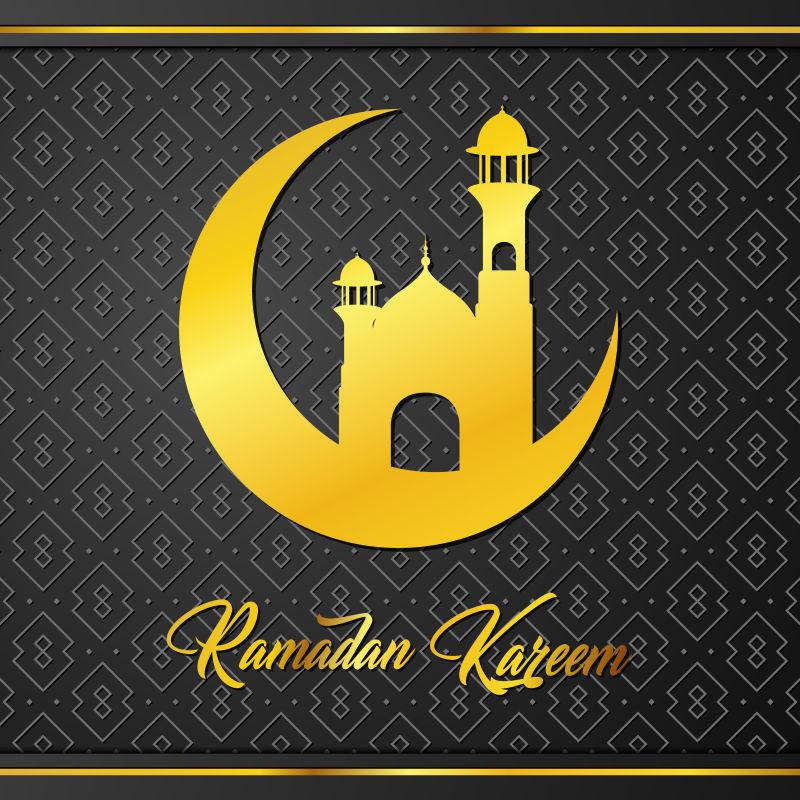 矢量伊斯兰风格的创意装饰背景设计