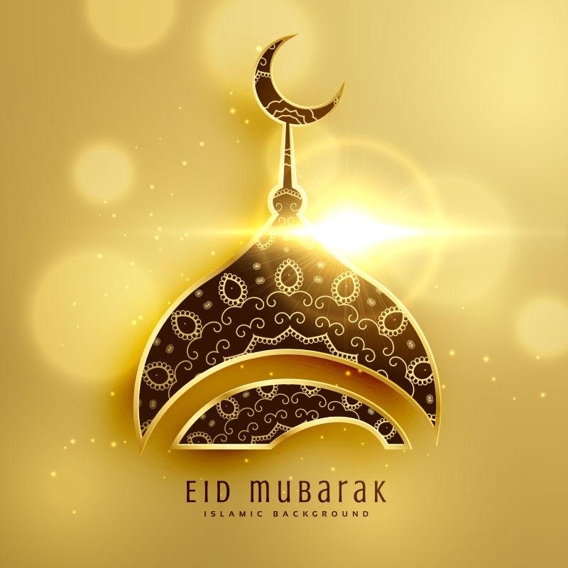 创意矢量现代伊斯兰主题平面海报设计