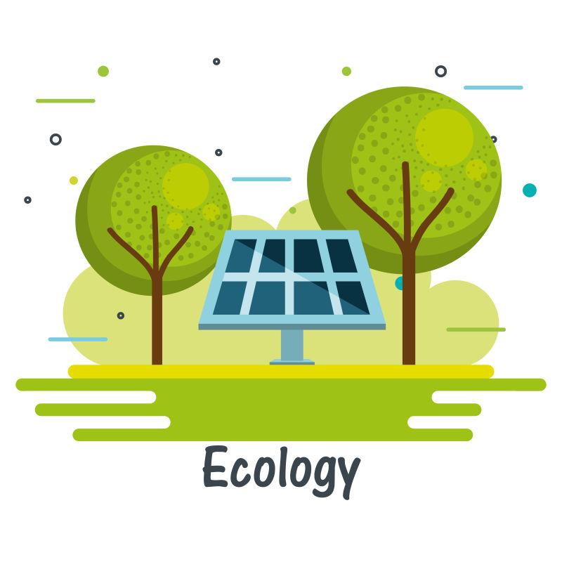 创意矢量现代生态主题平面插图