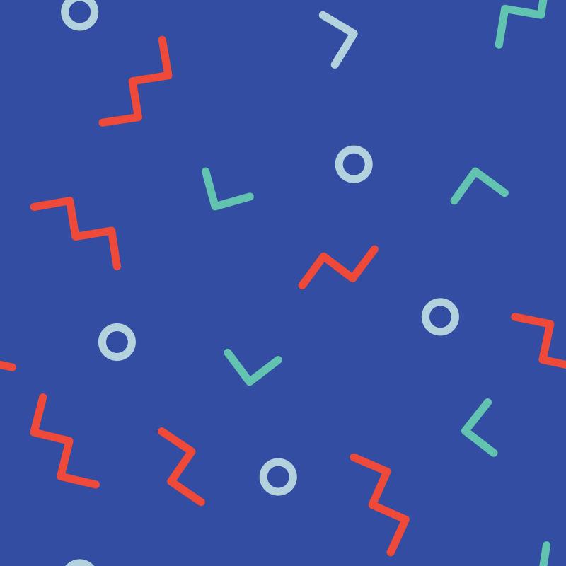 抽象矢量时尚几何元素装饰背景