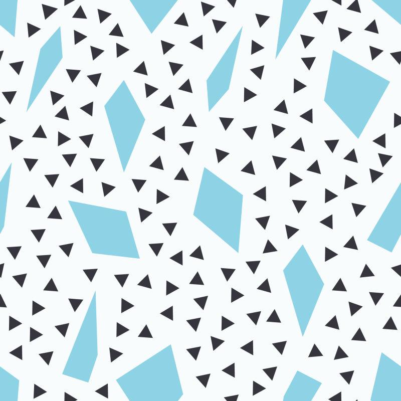 抽象矢量蓝色几何元素装饰时尚背景