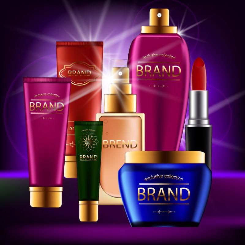 矢量化妆品与护肤品