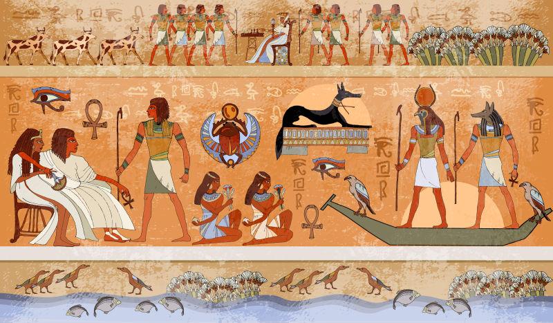 古埃及风光,神话。埃及神灵与法老