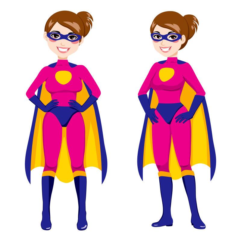 抽象矢量现代美丽的超级英雄插图设计