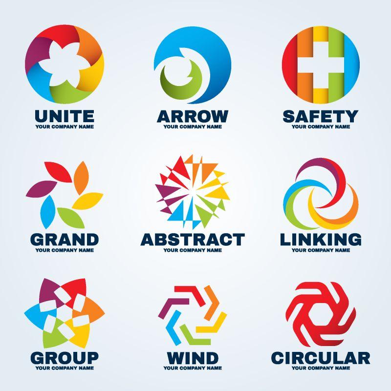 圆形创意标识矢量商业艺术设计