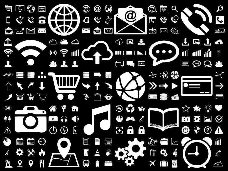 创意矢量现代简易网络图标设计