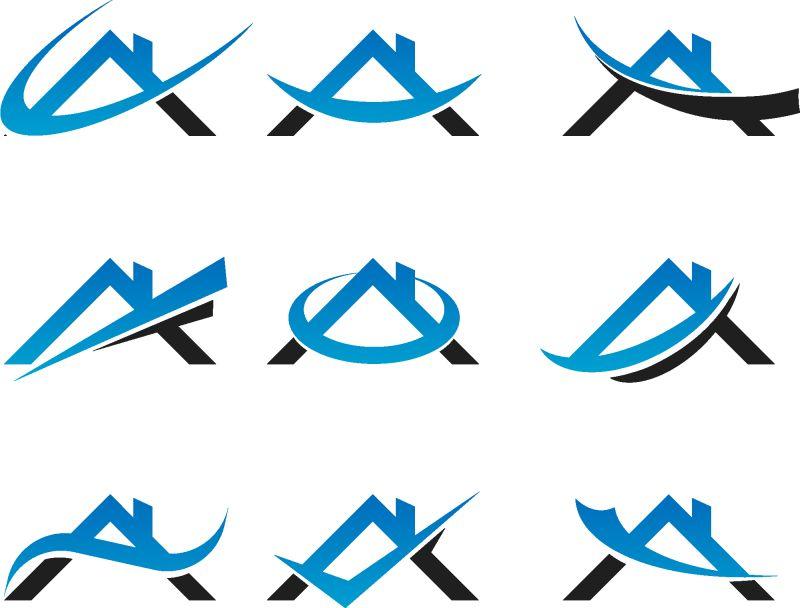 创意矢量现代时尚蓝色字母a标志设计