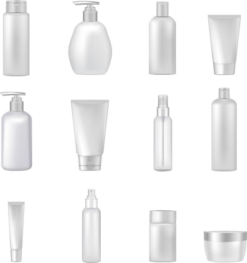 抽象矢量现代空白包装瓶设计