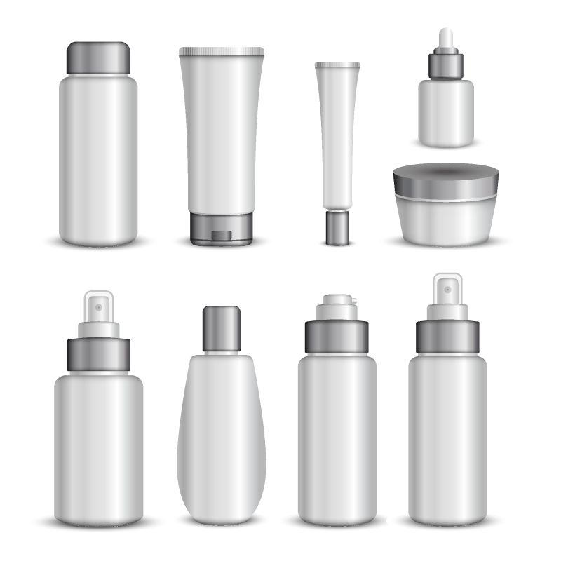 矢量抽象现代空白包装瓶设计