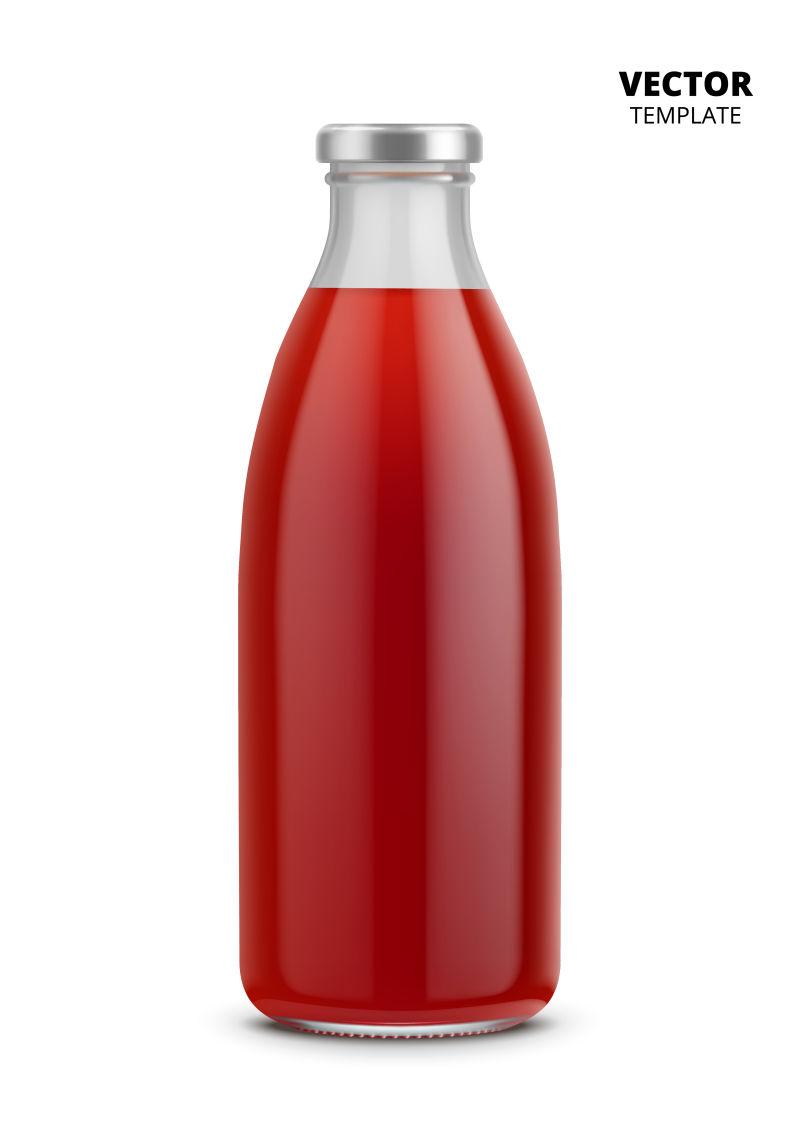 抽象矢量现代透明果汁包装设计