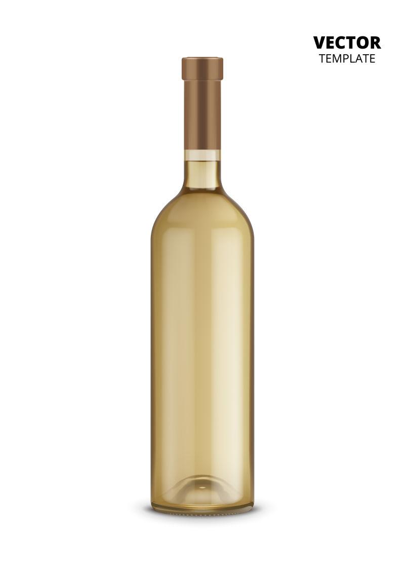创意矢量透明茶色酒瓶设计