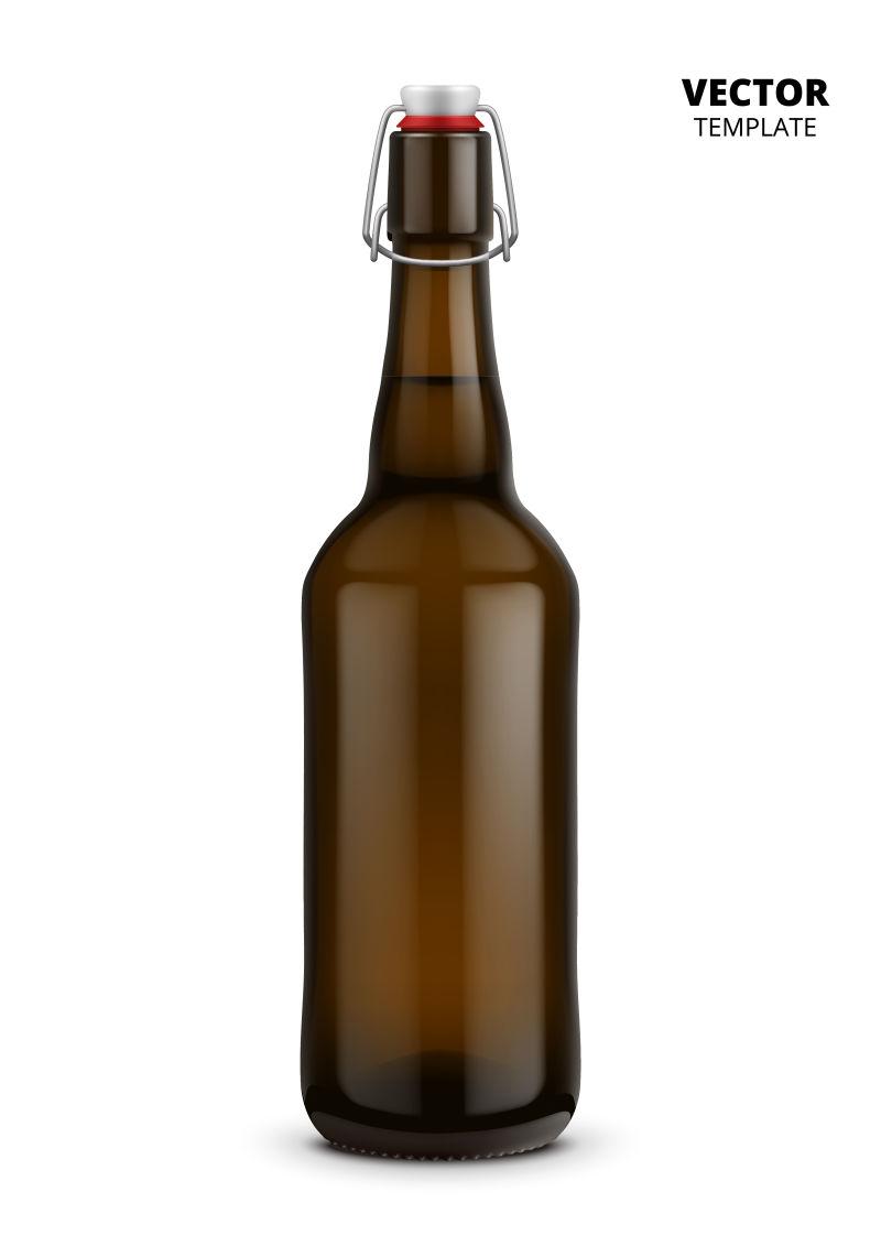 抽象矢量现代啤酒瓶设计