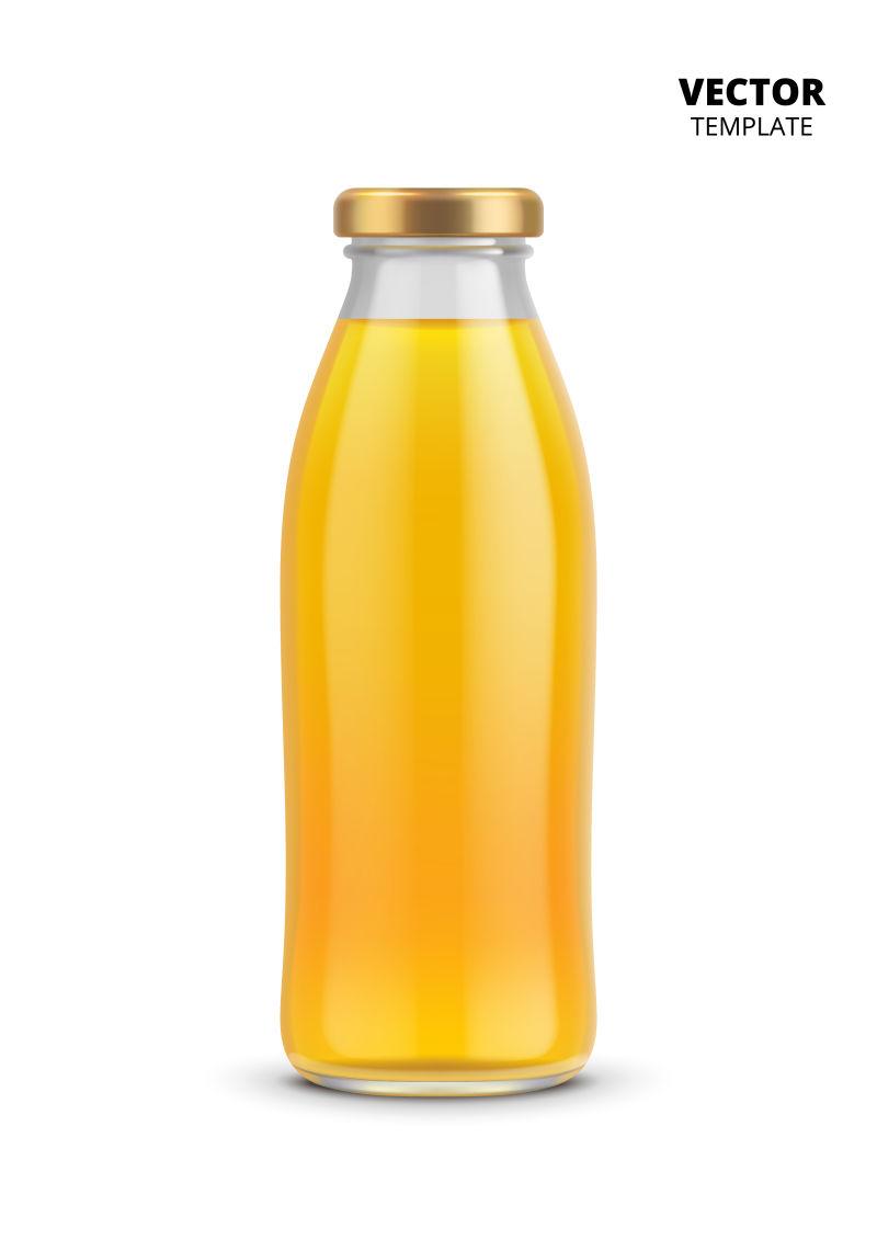 矢量抽象现代果汁瓶设计