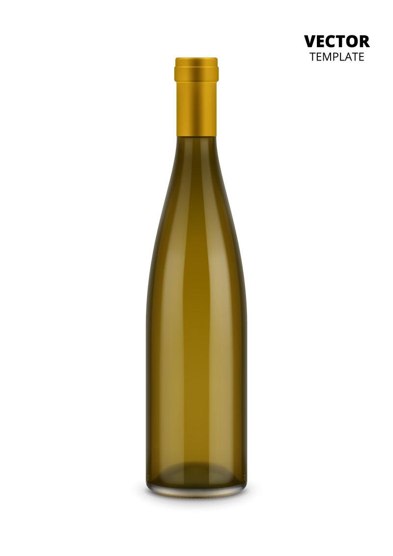 抽象矢量香槟瓶子设计