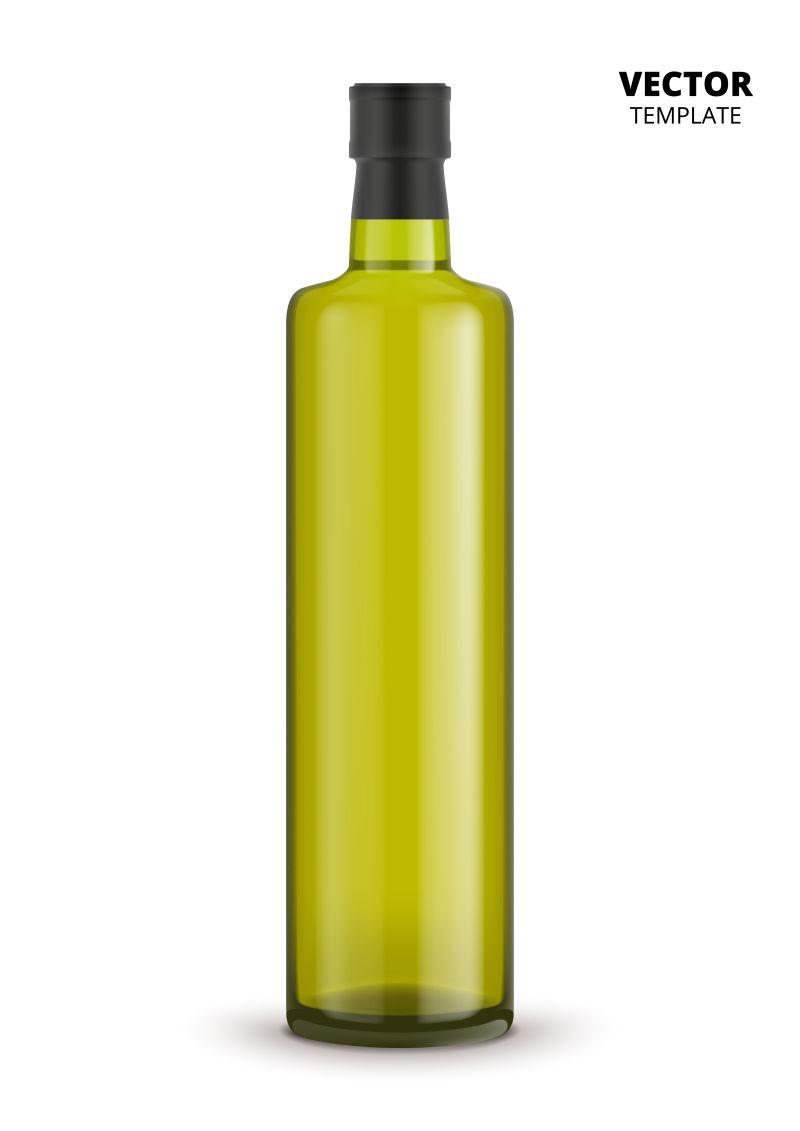 抽象矢量现代长条橄榄油瓶子设计