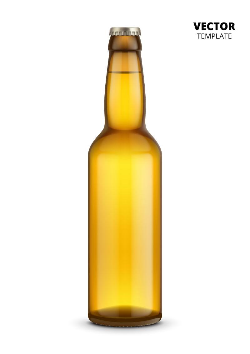 抽象矢量现代啤酒瓶包装设计