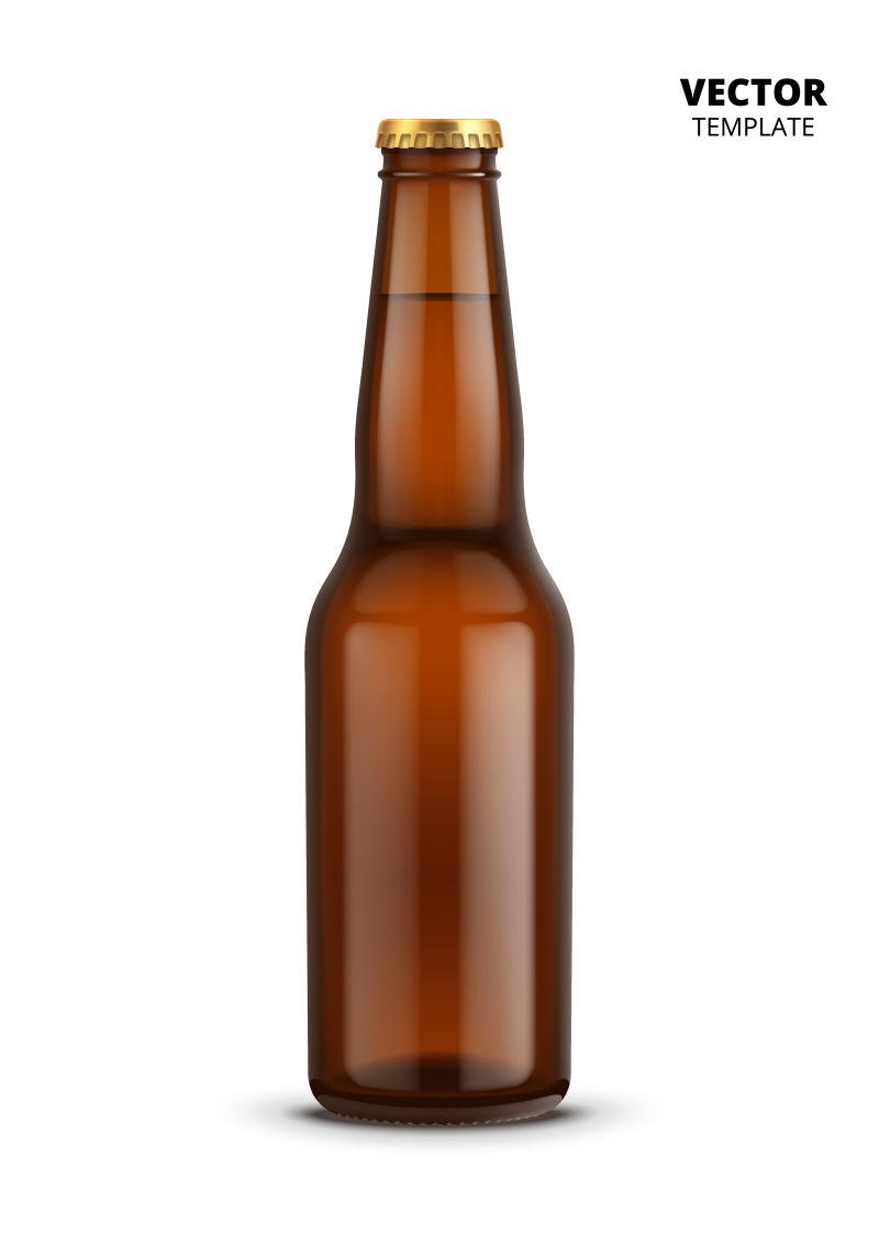 矢量抽象现代啤酒瓶设计
