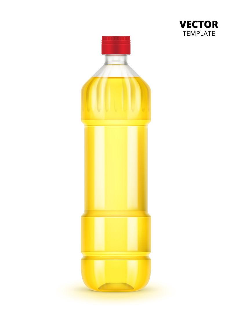 抽象矢量现代油瓶设计