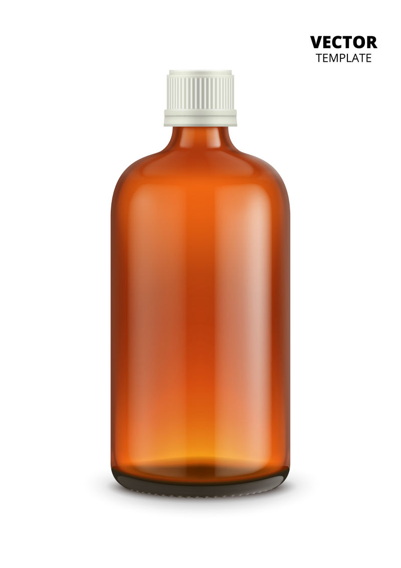 抽象矢量棕色瓶子设计