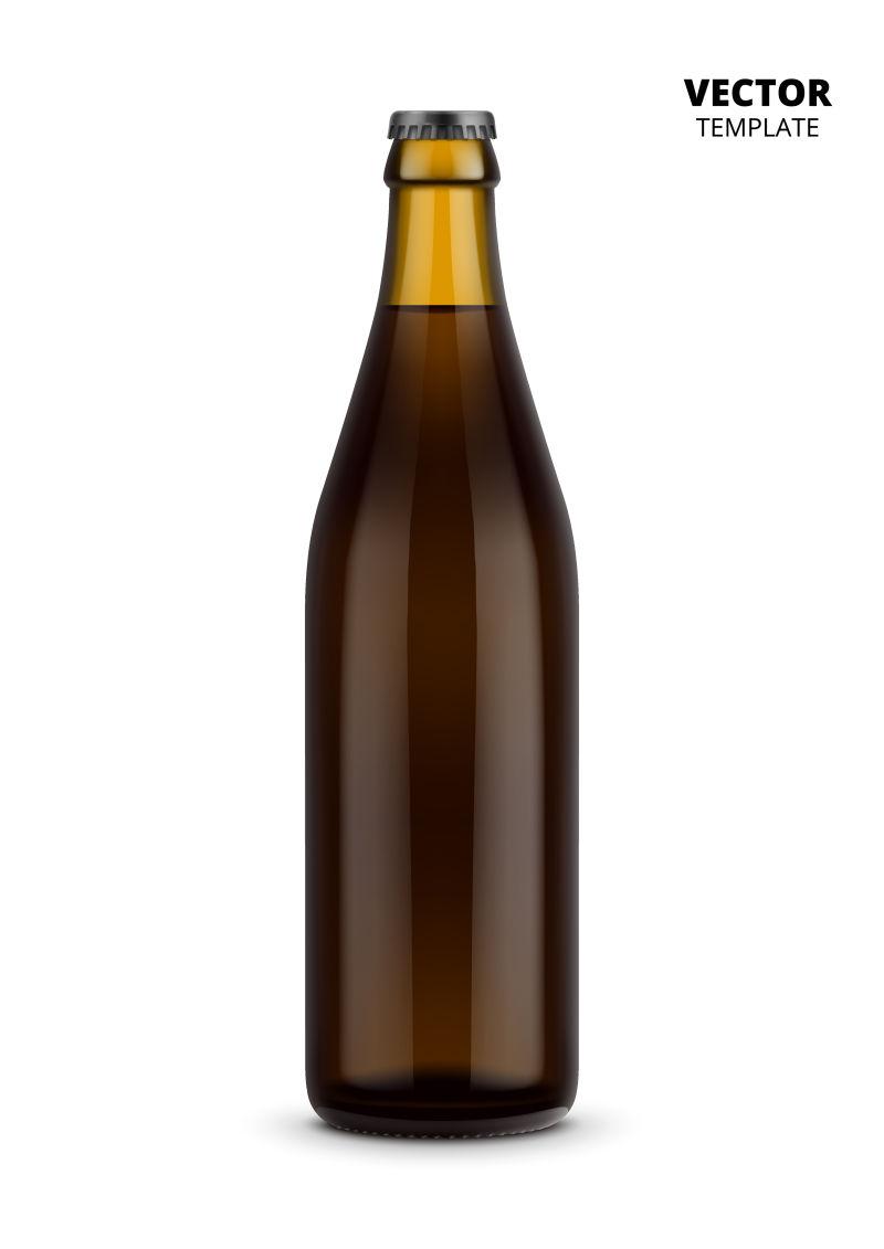 抽象矢量现代包装瓶设计
