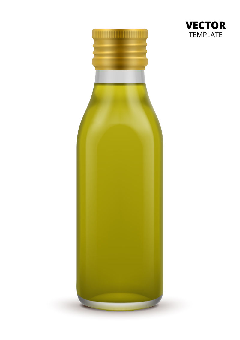 抽象矢量现代透明方形玻璃瓶设计