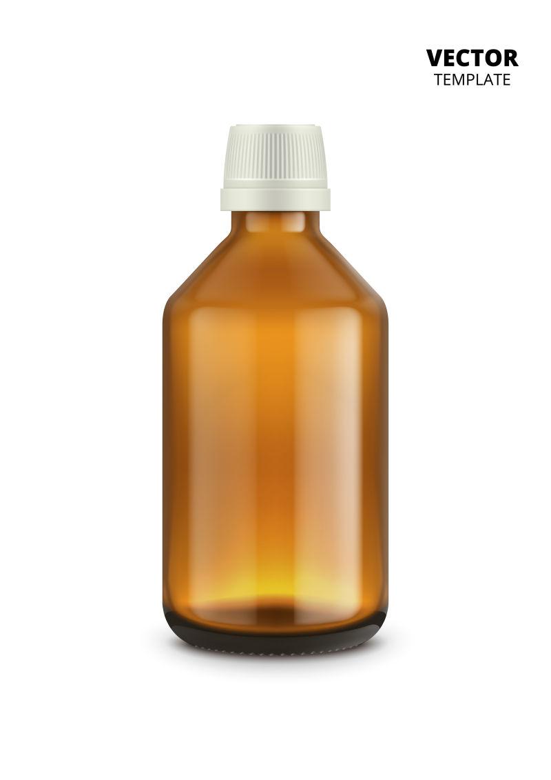 矢量抽象棕色瓶子设计