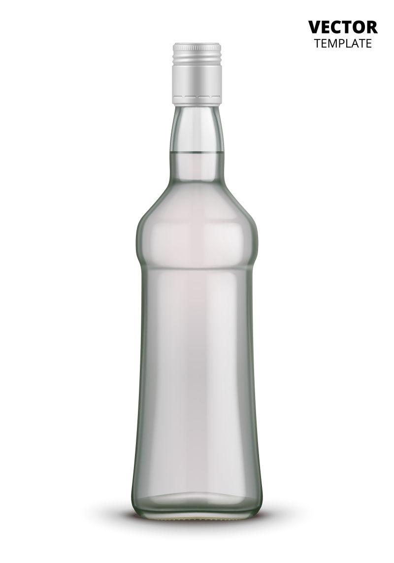 抽象矢量伏特加瓶子设计