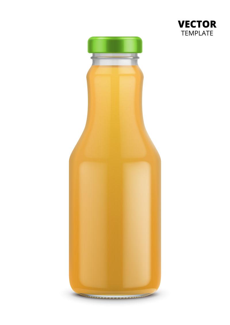 矢量抽象现代果汁瓶创意设计