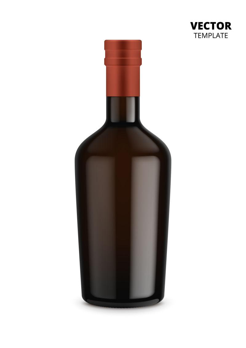 矢量抽象现代酒瓶设计